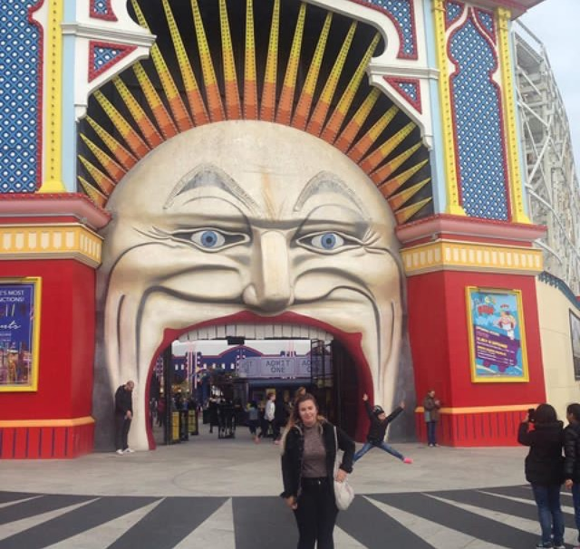 At Melbourne Luna Park