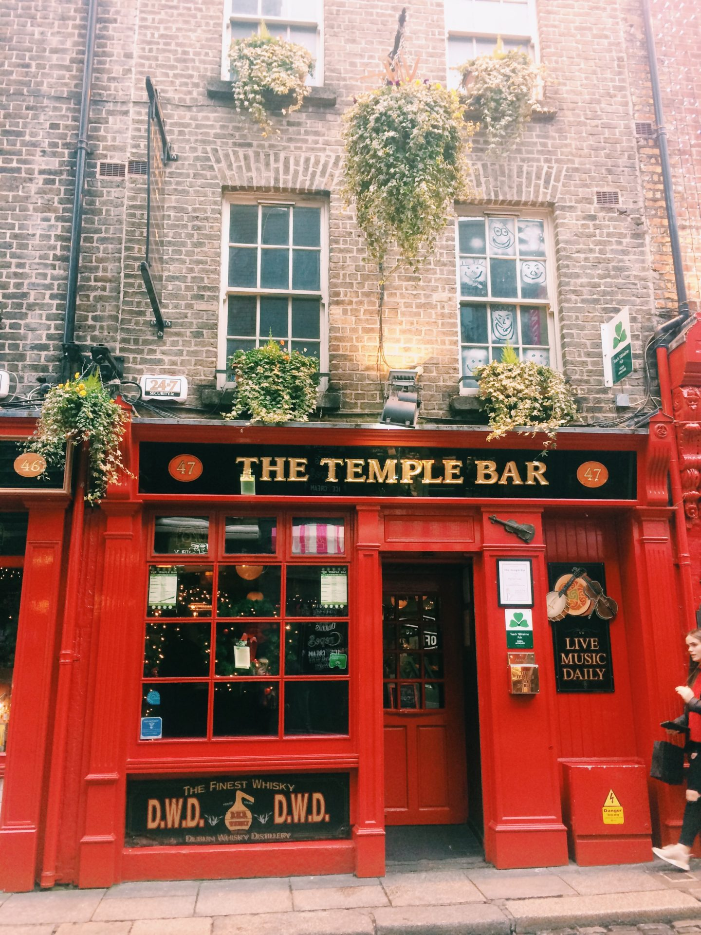 Outside Temple bar